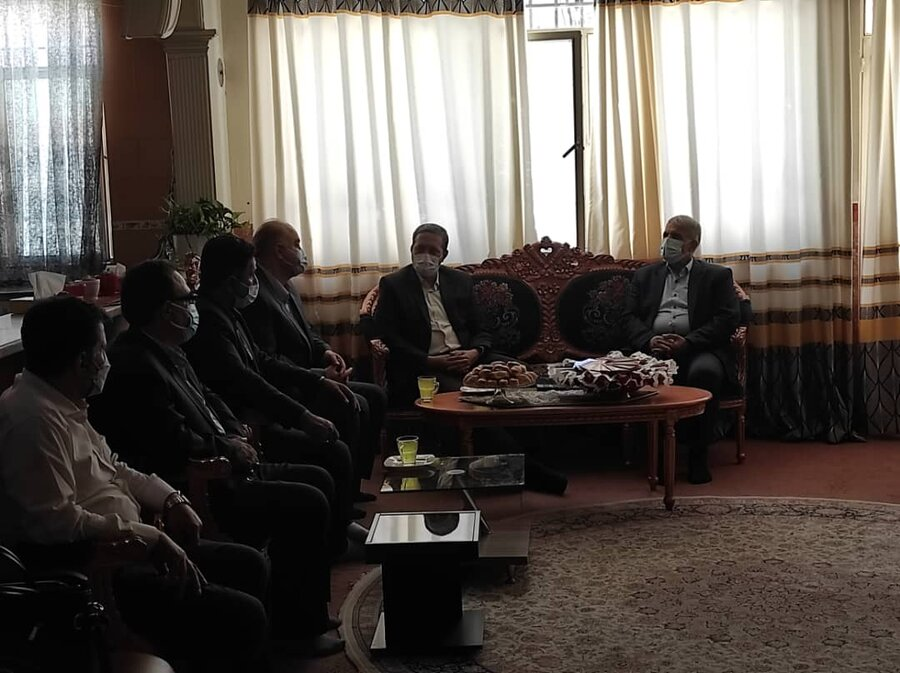 بازدید مسئولین شهرستان از مرکز شبه خانواده آرامش اتابکان بمناسبت دهه کرامت