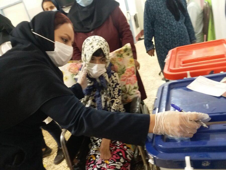 گزارش تصویری|برگزاری انتخابات در مراکز تحت نظارت بهزیستی خوزستان