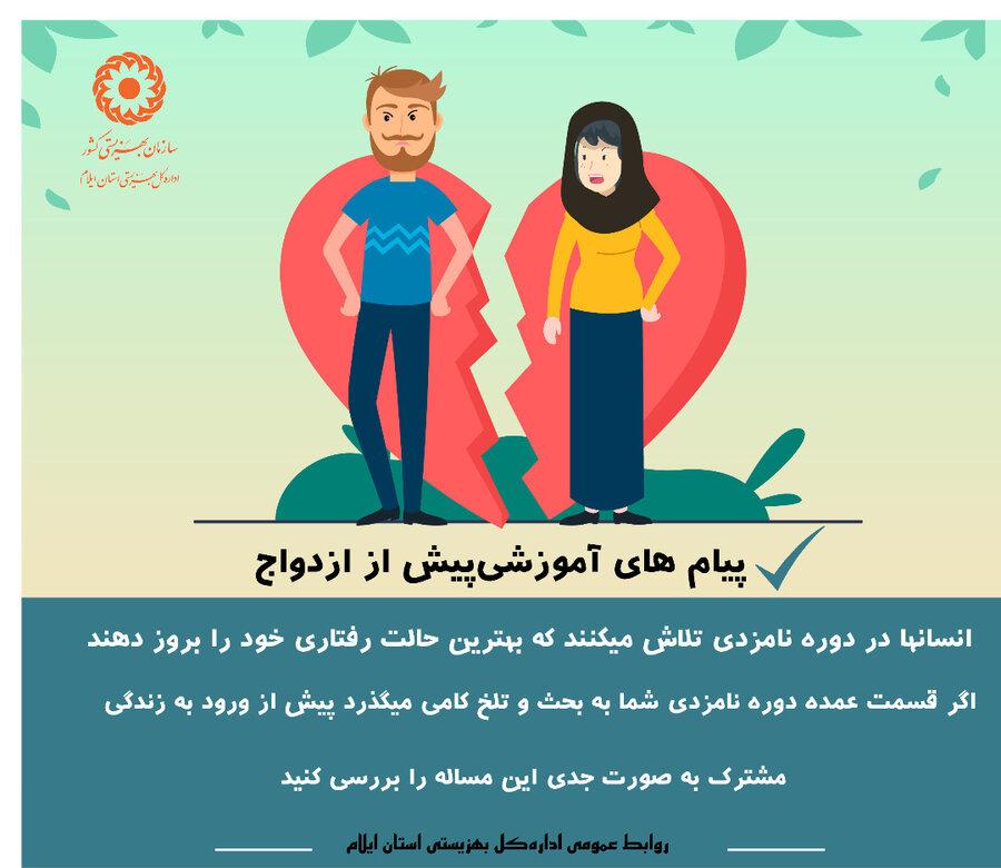 اینفوگرافیک  پیام آموزشی پیش از ازدواج