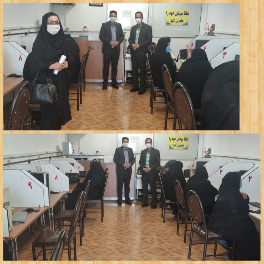 خرامه | بازدید از برگزاری آزمون مهارت شغلی زنان سرپرست خانوار