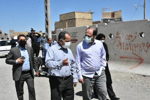 بازدید اعضای کمیسیون اجتماعی مجلس شورای اسلامی از مناطق حاشیهای مشهد
