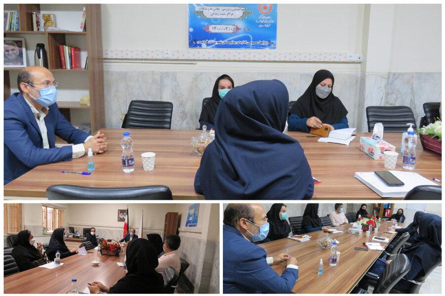 فردیس | برگزاری جلسه با مراکز مثبت زندگی