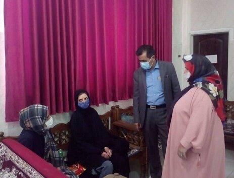 دیدار صمیمانه مدیر کل بهزیستی استان  با بیماران پروانهای