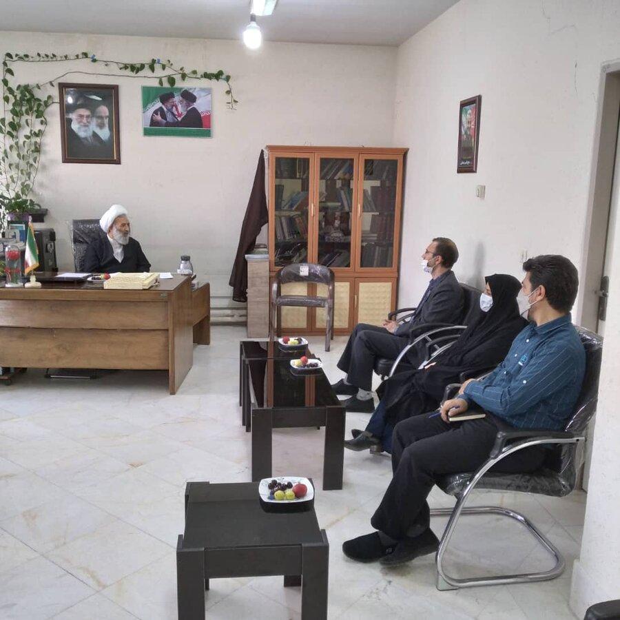 دیدار مدیر کل بهزیستی استان قم و رئیس مجتمع قضائی شهید قدوسی