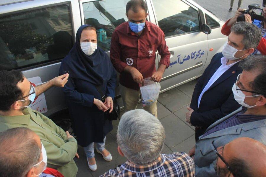 افتتاح نمایشگاه اعتیاد در پیاده راه فرهنگی رشت