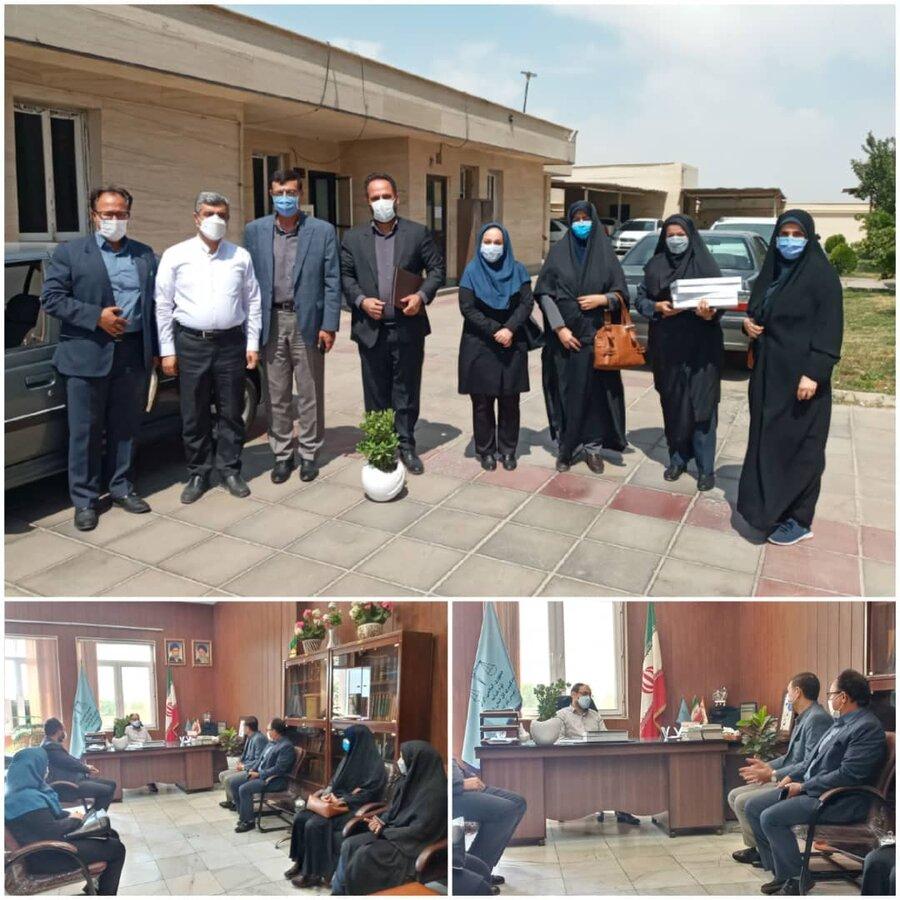 نظرآباد   رئیس اداره بهزیستی شهرستان نظرآباد با رئیس دادگستری دیدار کرد