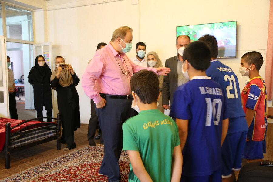 بازدید مدیرکل بهزیستی مازندران از مرکز ساماندهی کودکان خیابانی