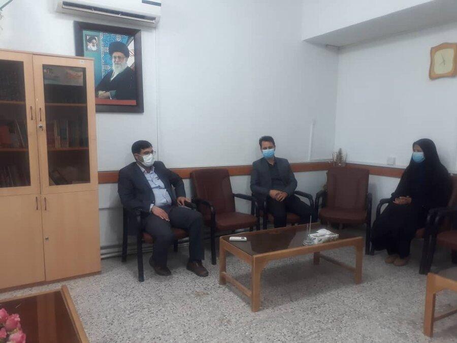 دیدار رئیس بهزیستی شهرستان جاجرم با دادستان