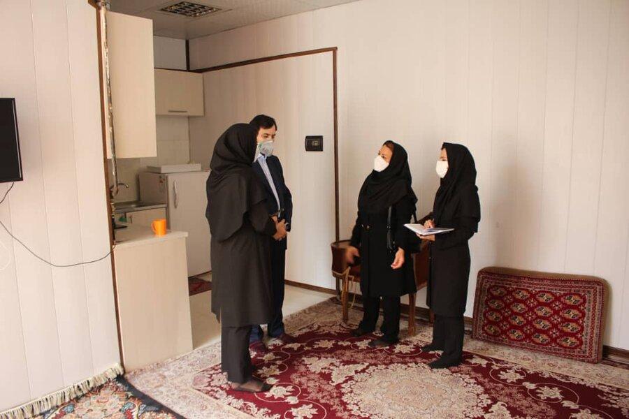 دکتر حیدری از خانه امن حوزه اجتماعی بهزیستی بازدید کرد