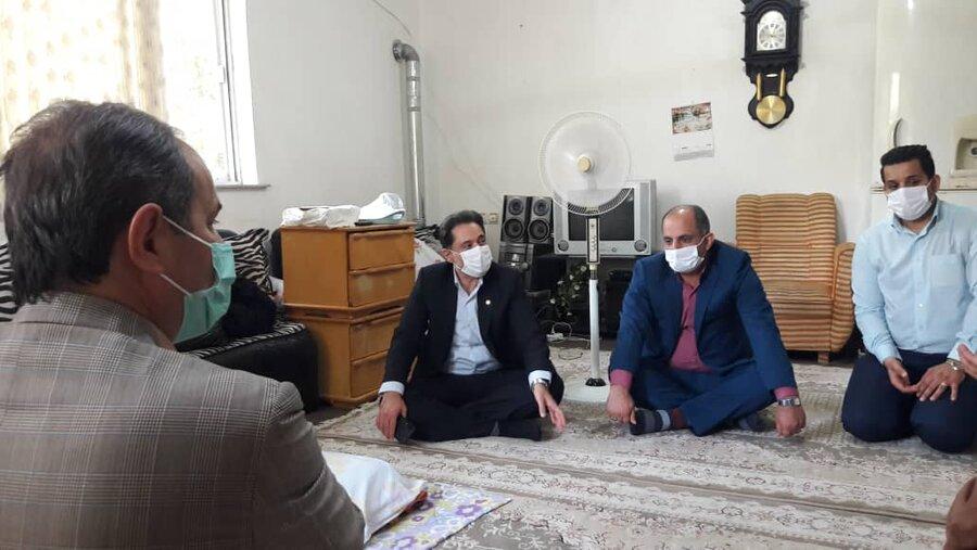 بازدید مدیرکل بهزیستی گیلان از سالمند بی سرپرست در روستای سیاه گلوندان رشت