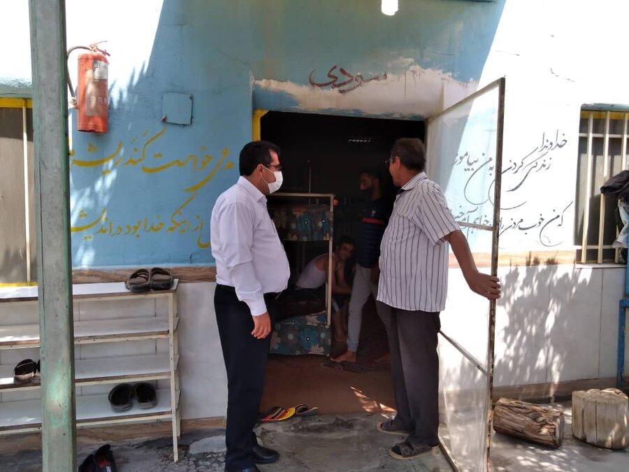بهارستان| بازدید مشترک روسای پلیس مبارزه با موادمخدر و بهزیستی شهرستان از مراکز اقامتی میان مدت