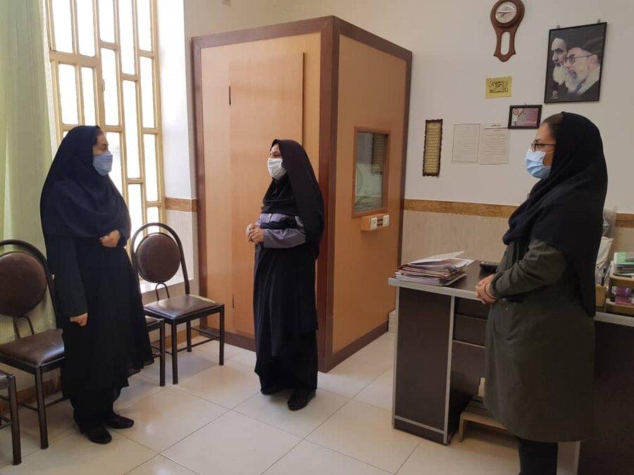 کازرون| بازدید معاون مشارکت های مردمی بهزیستی فارس
