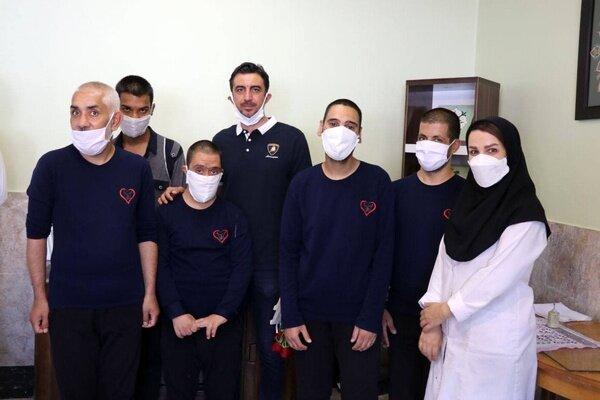 بازدید مهدی رحمتی از مجموعه معلولان ذهنی شهید بهشتی مشهد