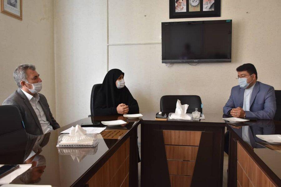 دیدار صمیمانه مدیرعامل جمعیت هلال احمر ومعاونین، با دکتر محمدی مدیر کل بهزیستی استان کرمانشاه