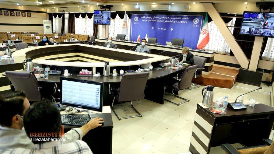 نشست تخصصی حوزه توانبخشی سازمان بهزیستی کشور با معاونین امور توانبخشی استانها