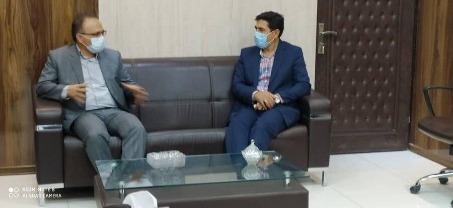 دیدار مدیرکل بهزیستی با ریاست دانشگاه علوم پزشکی خراسان شمالی