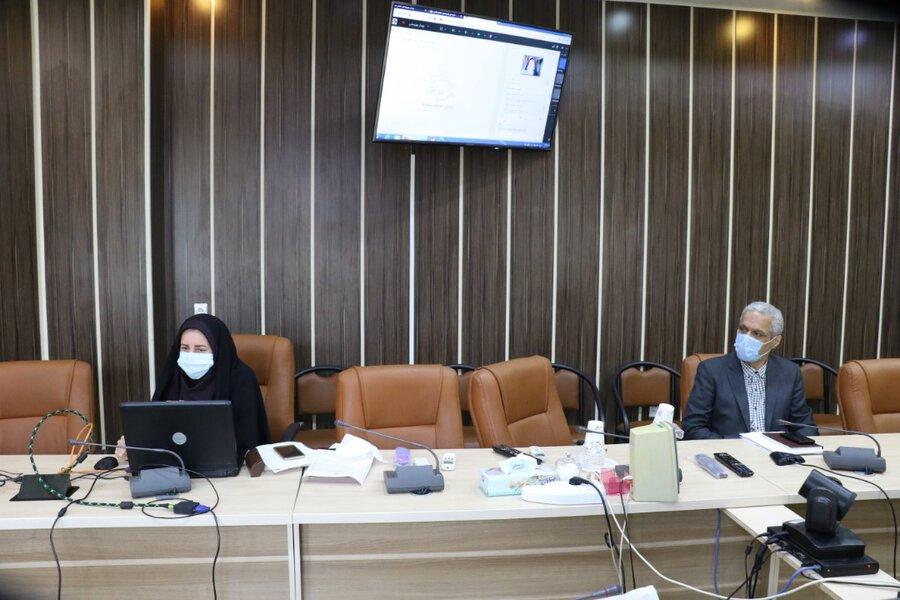 برگزاری وبینار آموزشی بررسی دستورالعمل ها و رفع چالش های پرونده های اداره پذیرش و هماهنگی