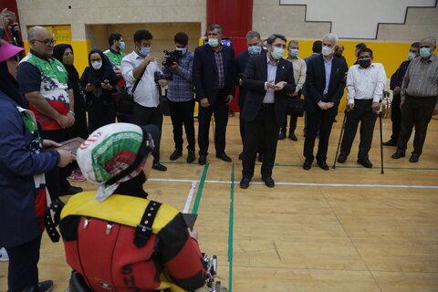 حضور رییس سازمان بهزیستی در اردوی ورزشکاران پارالمپیکی