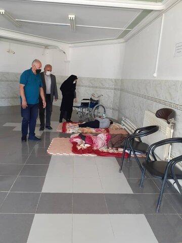 گزارش تصویری/ بازدید از مرکز نگهداری از معلولین و سالمندان سروهای سراب