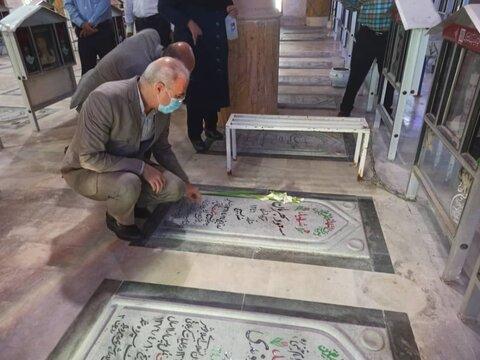 گزارش تصویری مراسم غبارروبی گلزار شهدای بوشهر