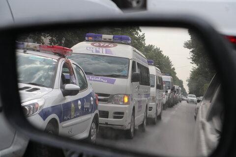 گزارش تصویری | رزمایش خودرویی اورژانس اجتماعی
