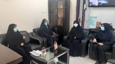 تنگستان|دیداررئیس وکارکنان بهزیستی شهرستان تنگستان با فرماندهی بسیج خواهران و پایگاه خدیجه کبری
