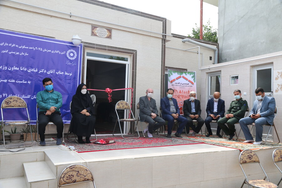 همزمان با سراسرکشور ۷۱ واحد مسکونی در گلستان افتتاح شد