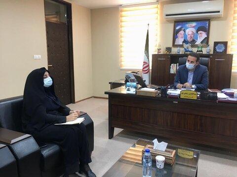 تنگستان |رئیس بهزیستی شهرستان تنگستان با فرماندار دیدار وگفتگو کرد