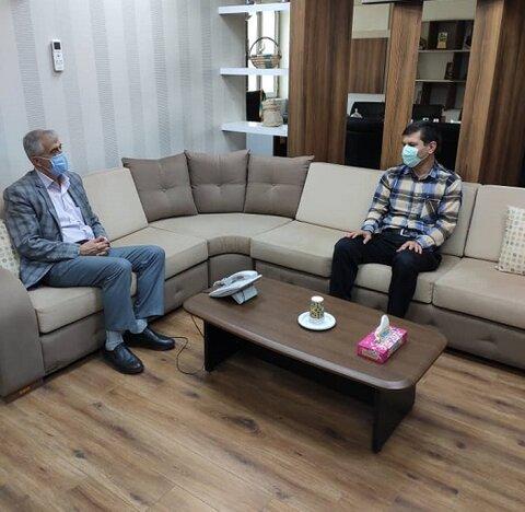 ابوموسی   دیدار رئیس بهزیستی ابوموسی با فرماندار شهرستان