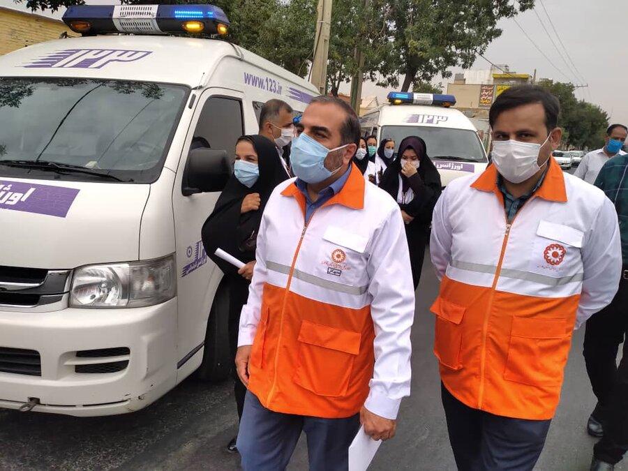 گزارش تصویری| مانور سراسری اورژانس اجتماعی در شیراز