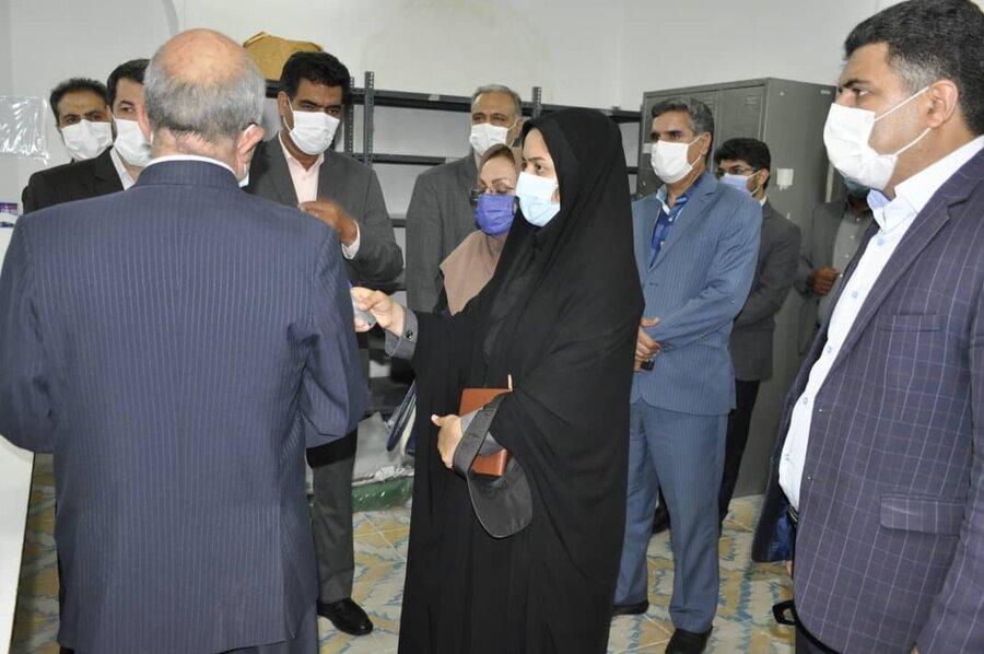 بازدید استاندار خ ج از کارگاه تولیدی حمایتی دستان پرتوان