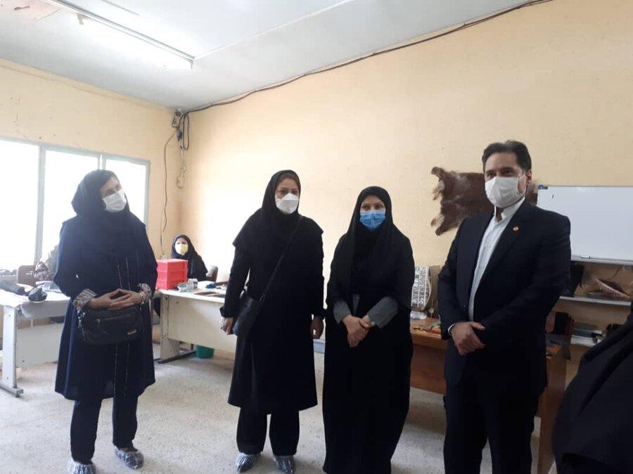 افتتاخ کارگاه حمایتی_تولیدی رستاک به مناسبت هفته بهزیستی در لاهیجان