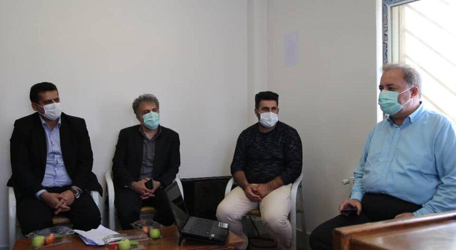 بازدید مدیرکل بهزیستی مازندران از مرکز مثبت زندگی بخش چهاردانگه شهرستان ساری