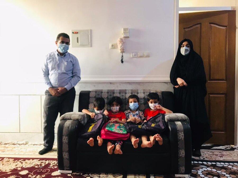 دیر  بازدید از منزل خانواده چهار قلوی تحت حمایت بهزیستی شهرستان دیّر