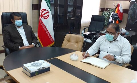 جاسک   دیدار رئیس وکارکنان بهزیستی جاسک با فرماندارشهرستان