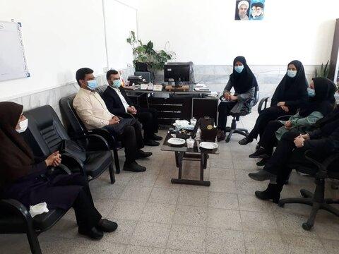 حضور نمایندگان منتخب شورای شهر جاجرم در اداره بهزیستی