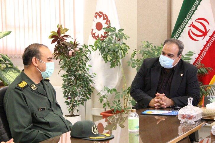 نشست و دیدار  دکتر ولی الله نصر مدیرکل بهزیستی استان با سرهنگ شفیعی رئیس سازمان بسیج ادارات و کارمندان استان