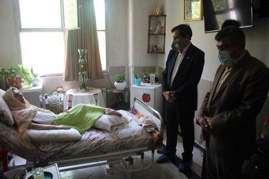 بازدید میدانی مدیرکل بهزیستی استان از مراکز نگهداری سالمندان
