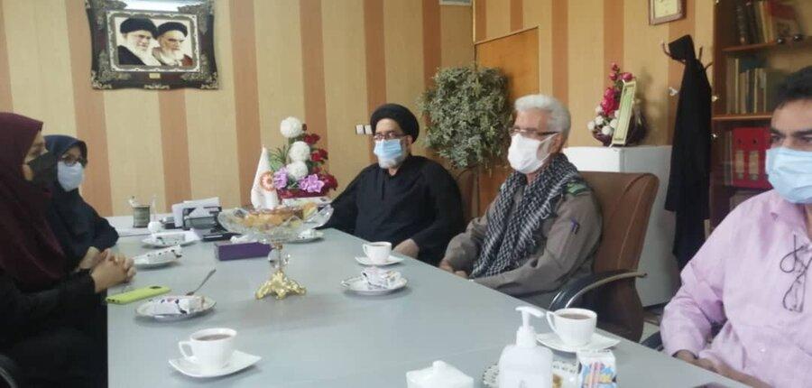 ورامین| حضور مدیرکل شورای هماهنگی تبلیغات اسلامی استان در ستاد بهزیستی شهرستان