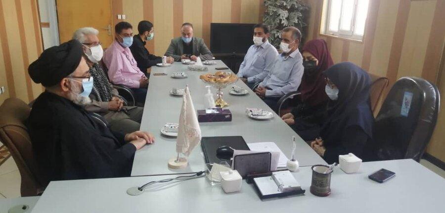 حضور مدیرکل شورای هماهنگی تبلیغات اسلامی استان در ستاد بهزیستی شهرستان