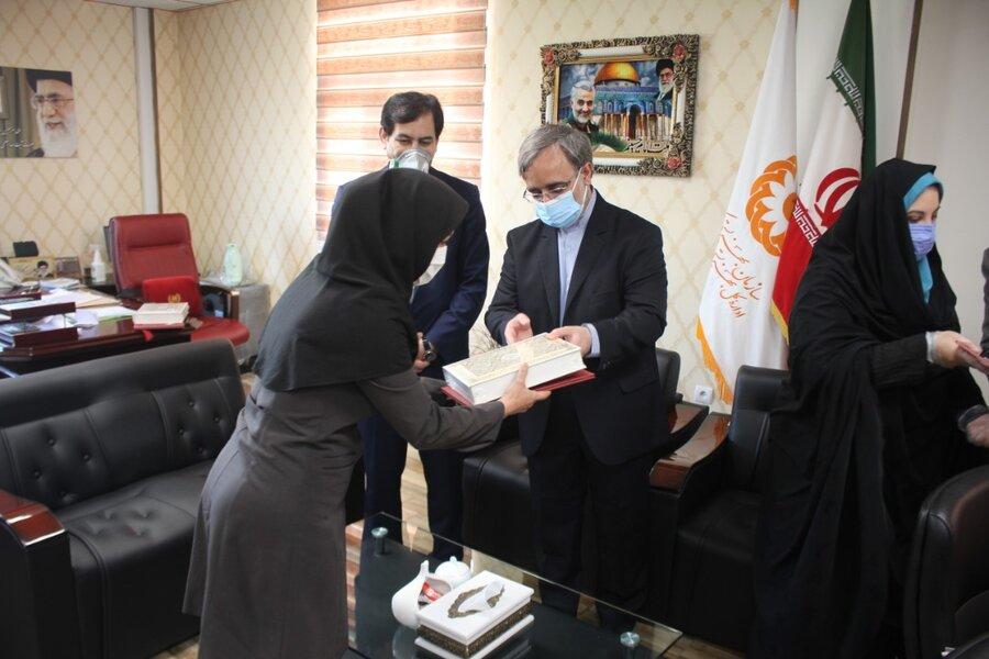 دادستان البرز با حضور در بهزیستی استان از کارکنان این اداره کل تقدیر کرد