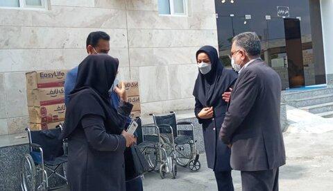 بازدید سرپرست بهزیستی هرمزگان از مرکز نگهداری معلولین ذهنی حبیب بن مظاهر