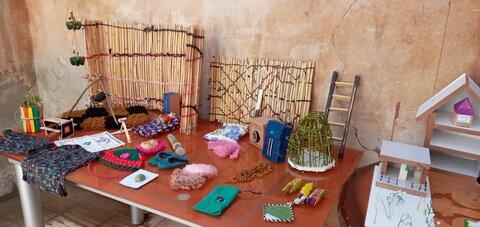 گزارش تصویری نمایشگاه هنری کودکان کار