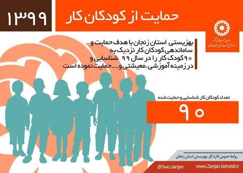 اینفوگرافی حمایت از کودکان کار در سال ۹۹
