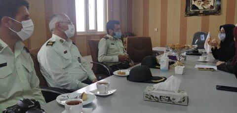 حضور مسئولان نیروی انتظامی و مراکز غیردولتی در ستاد بهزیستی شهرستان