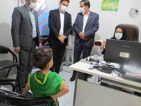 گزارش تصویری/ آیین آغاز برنامه کشوری پیشگیری از تنبلی چشم در شبستر