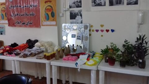 گزارش تصویری|نمایشگاه دستاوردهای هنری دختران خانه سلامت ایلام