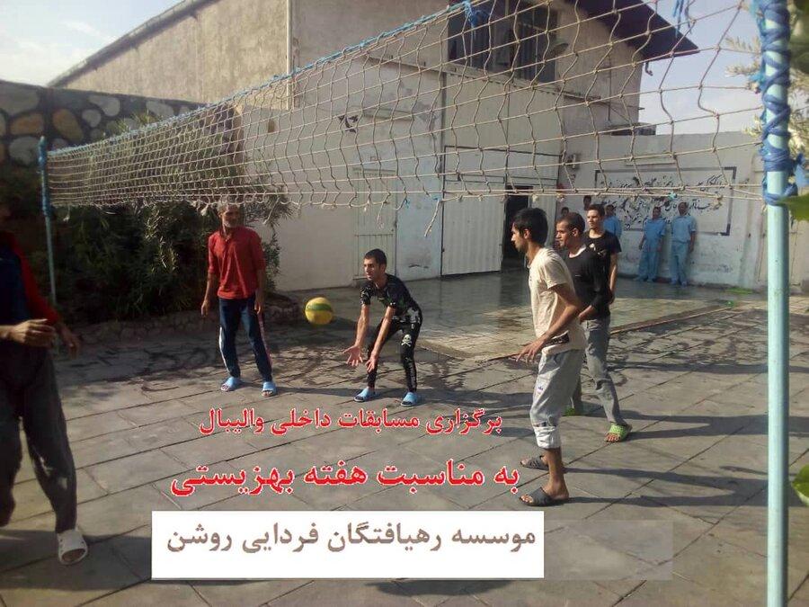 پاکدشت| برگزاری مسابقات ورزشی میان مددجویان مقیم مراکز اقامتی ترک اعتیاد