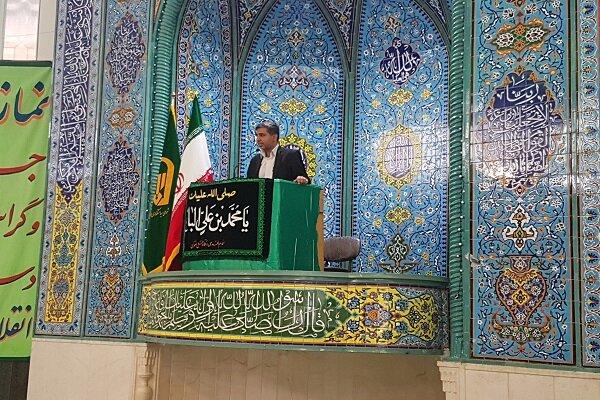 شاهین شهر و میمه | سخنرانی رئیس بهزیستی شهرستان پیش از خطبه های نماز جمعه