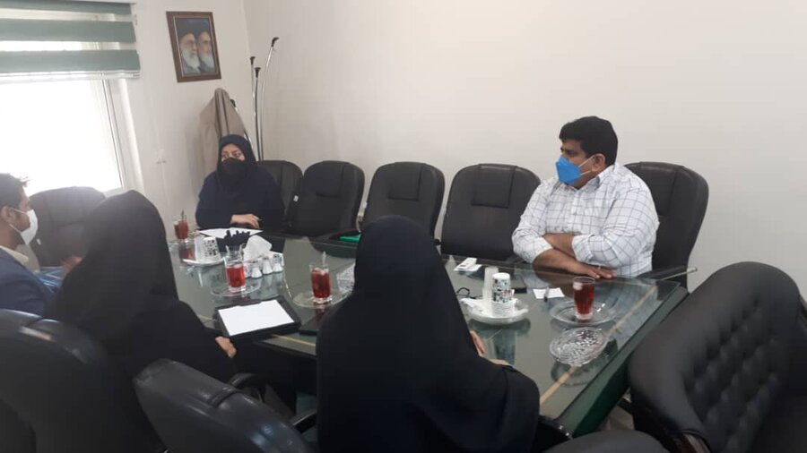 شهرری  برگزاری نشست دوجانبه مدیر بهزیستی شهرستان با نمایندگان بنیاد برکت استان